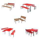 Tische und Garnituren