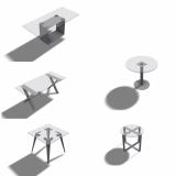 Tischfüsse paarweise und einzeln