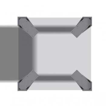 Tischbeine Winkelfuss - 4 Stück