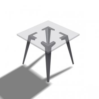 Tischbein Einfalter Schnell schräg - 4 Stück