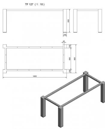 TF127 Typ 5 Rahmengestell