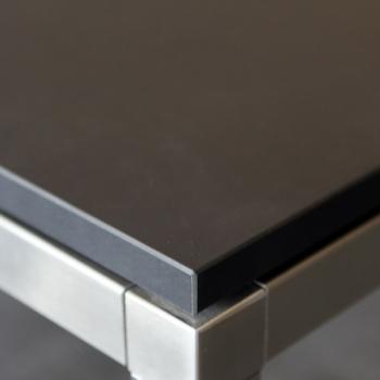 Tischplatte Linoleum schwarz 50x50x2cm