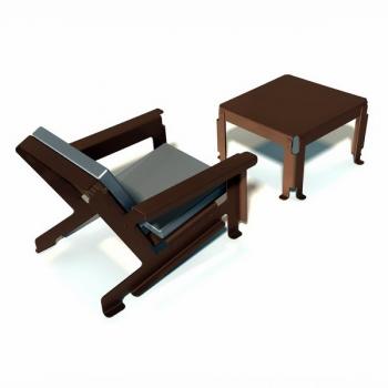 Sessel aus Alu