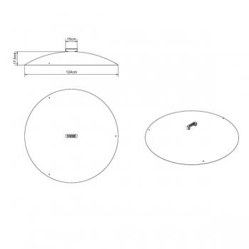 Masse Deckel für Feuerschale 12cm