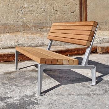 Dachgarten Sessel mit Eichenholz