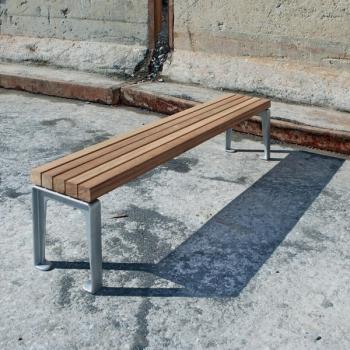 Dachgarten Bank mit Eichenholz Länge 180cm