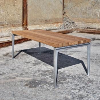 Dachgarten Tisch Eichenholz Länge 180cm