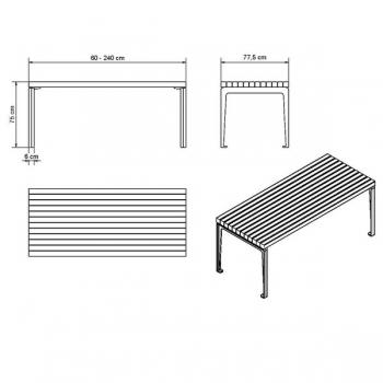 Dachgarten Tisch Masse