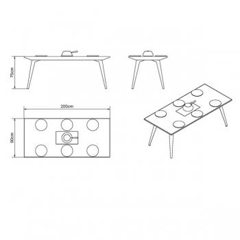 Gartentisch Kochtisch Ausstellungsmodell