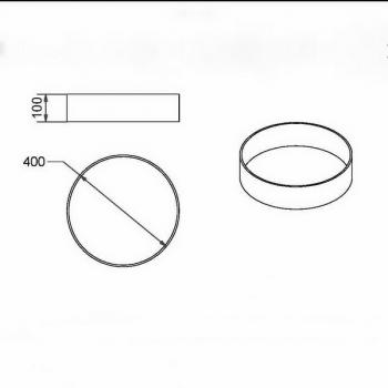 Rohrsockel 10cm Masse