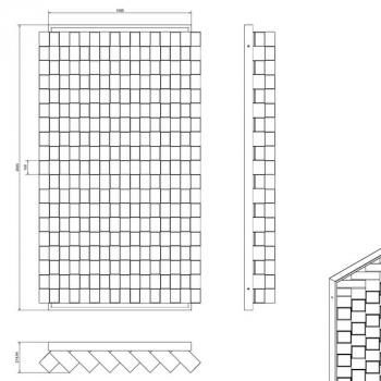 Sichtschutz Muster Aix