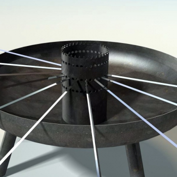 Stahlrohr als Spiessauflage