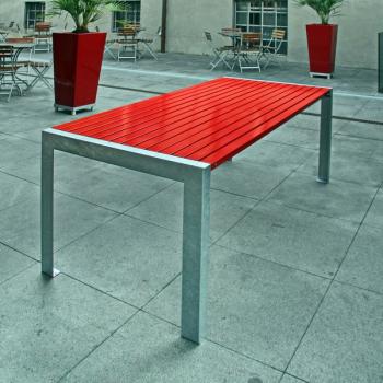 Terrasse Tisch Rot