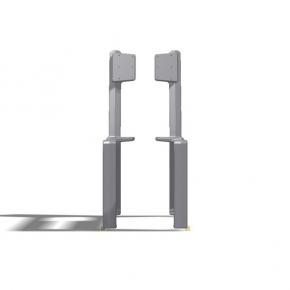 DG Bankfuss mit Rückenlehne Aluminiumguss gebohrt