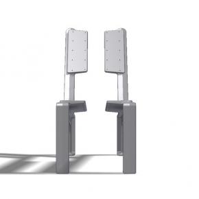 DG Sessel- Fuss Aluminiumguss gebohrt