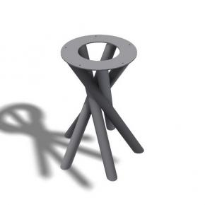 Spiralfuss Rundrohr - Stückndrohr