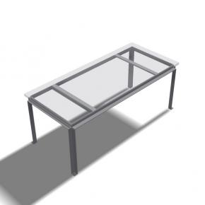 """""""TF124"""" Tisch- Rahmengestell Winkel aussen"""