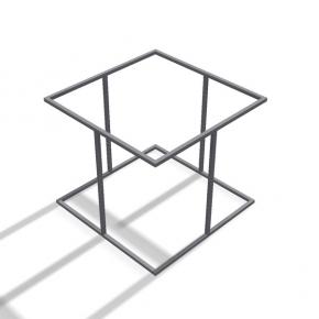 Rahmentischgestell Quadrat Stützen Seiten