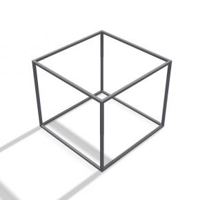 Rahmentischgestell Quadrat Stützen Ecken
