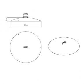 Masse Deckel für Feuerschale 100cm
