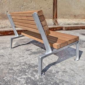 Dachgarten Sessel mit Eichenholz von hinten