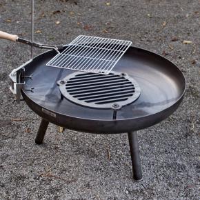 Feuerschale Standard 80cm mit Feuerrost 40 und Schwenkgrill