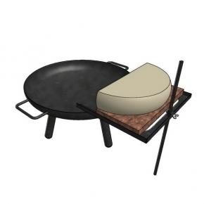 Halter für Raclettekäse an der Feuerschale