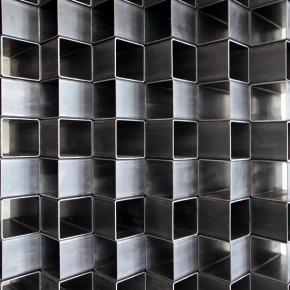 """""""Aix 100"""" Sichtschutz- Element mit Metallmuster"""