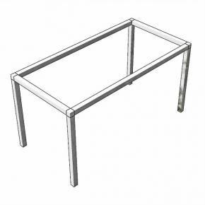 Tischgestell zerlegbar Edelstahl geschiffen