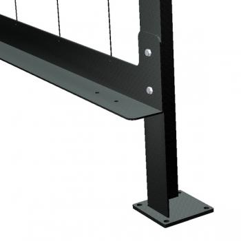 Fussplatte mit Anschluss der Seiten