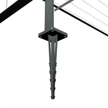 Stahlfundament für Pergola