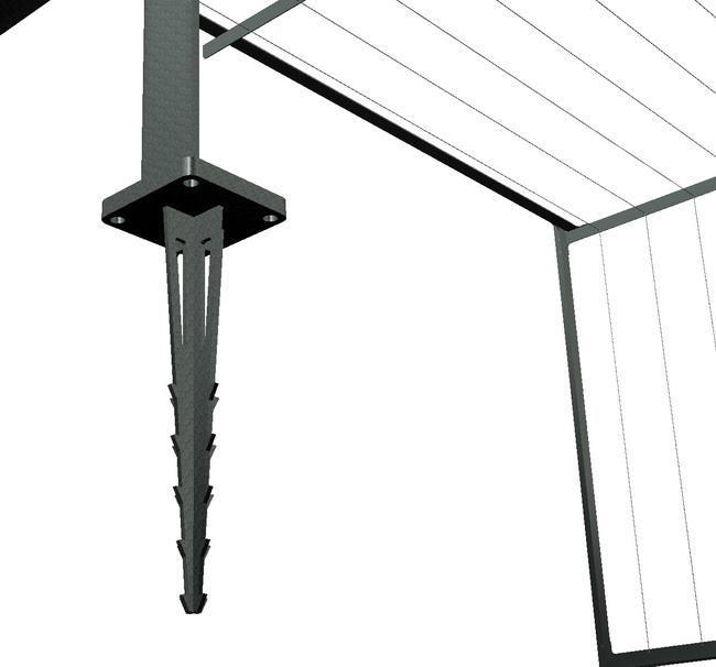 metall werk z rich ag zirkumflex die pergola f r kletterpflanzen. Black Bedroom Furniture Sets. Home Design Ideas
