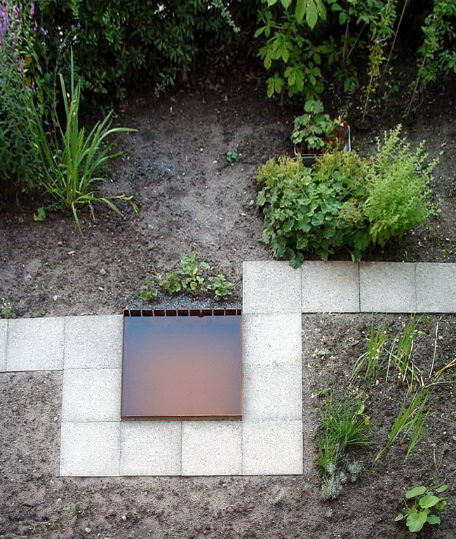 metall werk z rich ag bassin aus stahl f r regenwasser. Black Bedroom Furniture Sets. Home Design Ideas