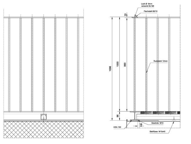metall werk z rich ag dachterrasse zypressenstrasse. Black Bedroom Furniture Sets. Home Design Ideas