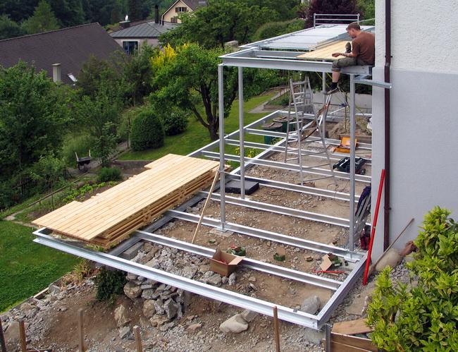Super Metall Werk Zürich AG - Balkon und Terrasse mit Holzboden AT04