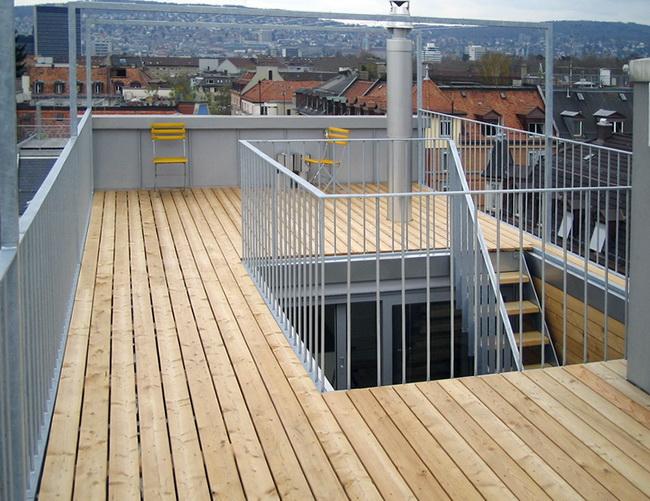 Metall Werk Zurich Ag Dachterrasse Wohnhaus Zurich