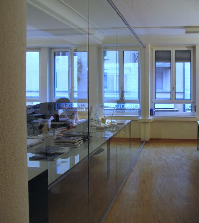 Metall werk z rich ag glas b rotrennwand - Trennwand bauen ohne boden beschadigen ...
