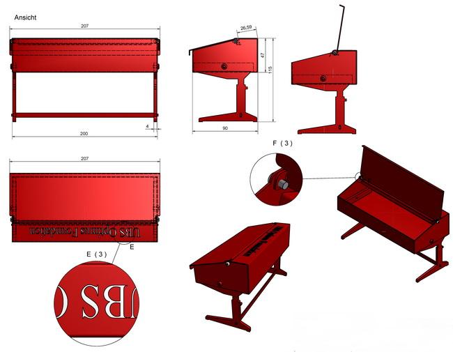 metall werk z rich ag das rote pult als kundengeschenk. Black Bedroom Furniture Sets. Home Design Ideas