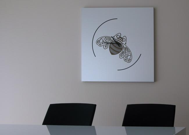metall werk z rich ag intarsien aus aluminium f r patron. Black Bedroom Furniture Sets. Home Design Ideas