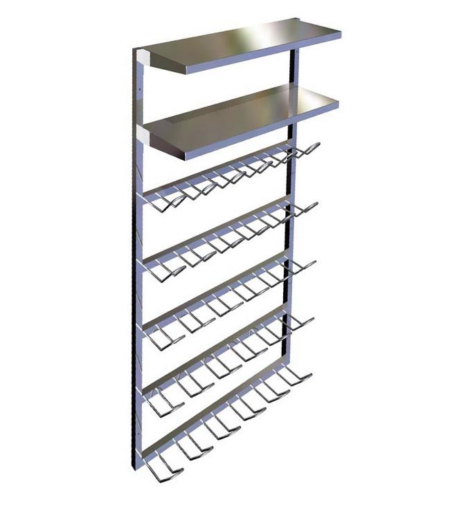 Metall werk z rich ag schuhgestell f r reinraum schleuse - Schuhregal wandmontage ...