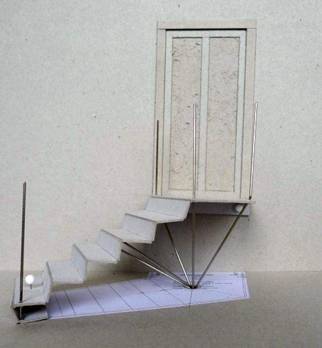 metall werk z rich ag gartentreppe aus riffelblech. Black Bedroom Furniture Sets. Home Design Ideas