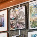 wandverkleidung rueckwand kunstausstellung icon