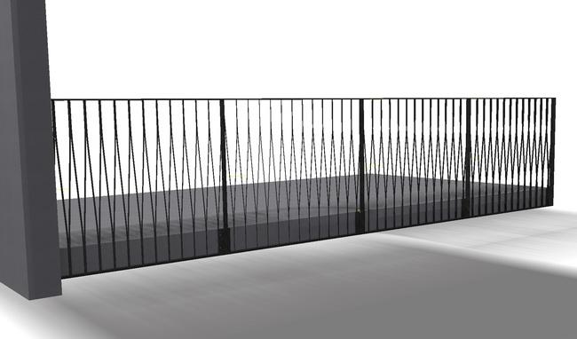 metall werk z rich ag balkongel nder gestrecktes blech. Black Bedroom Furniture Sets. Home Design Ideas